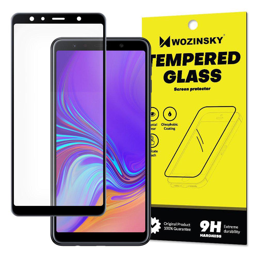 Celoplošné temperované tvrzené sklo 9H pro Samsung Galaxy A7 2018 A750 black