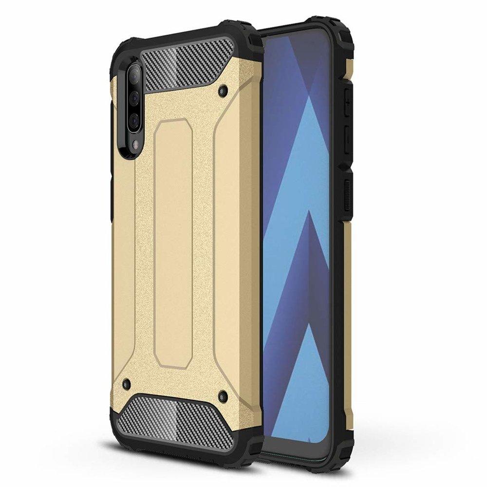 Hybrid polykarbonátové pouzdro Samsung Galaxy A70 golden