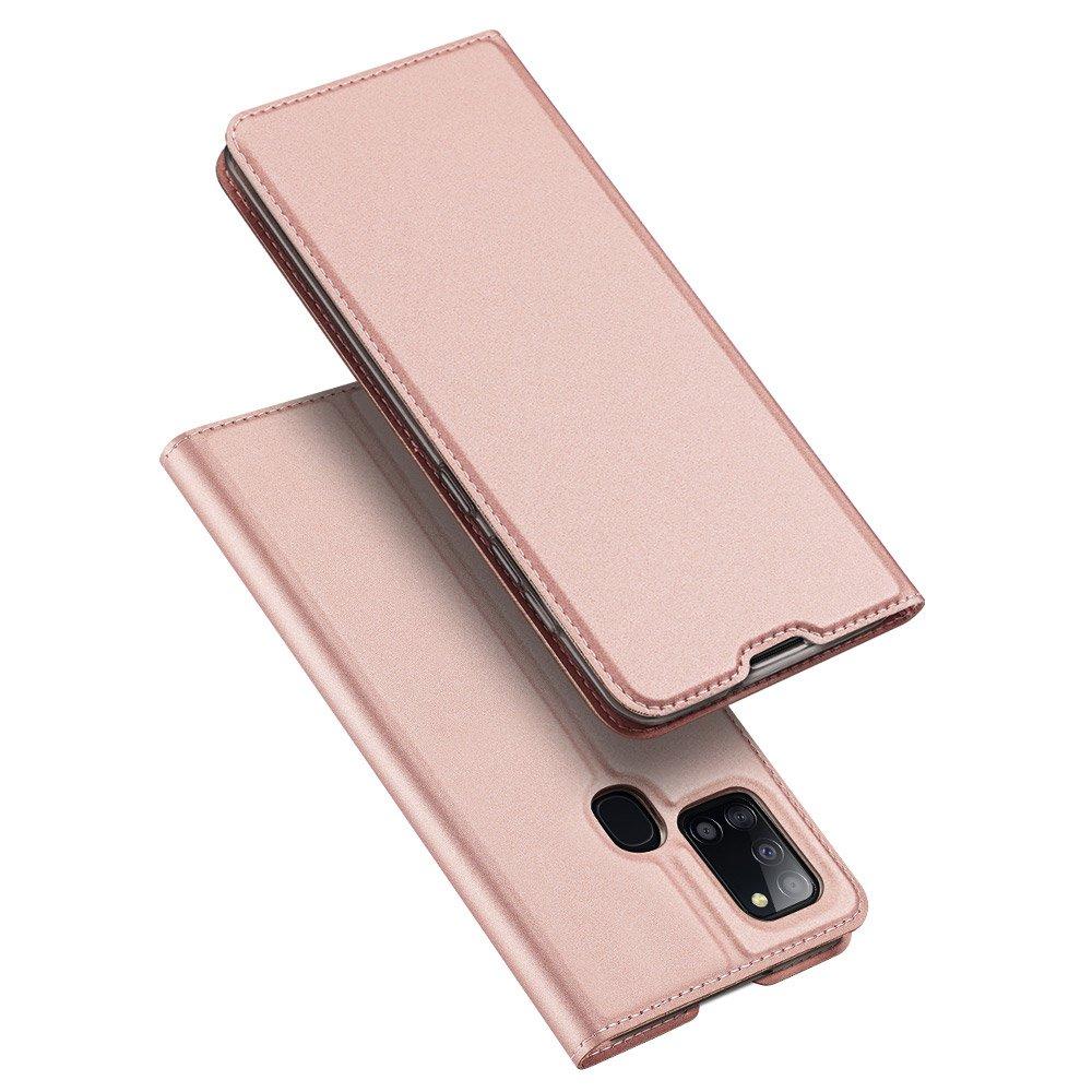 DUX DUCIS Skin knížkové pouzdro na Samsung Galaxy A21s pink