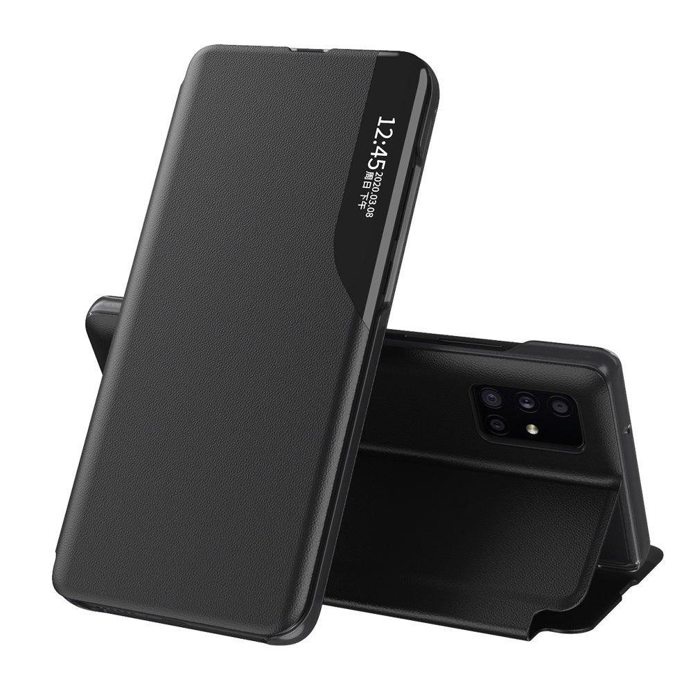 Knížková puzdro s imitáciou kože na Samsung Galaxy A51 black