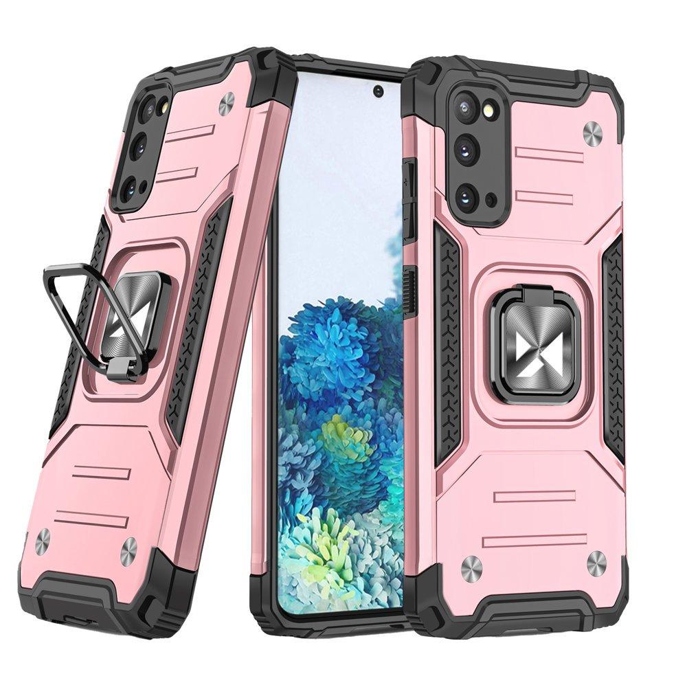 Wozinsky Hybrid pancéřové pouzdro s kroužkem Samsung Galaxy S20 Ultra pink