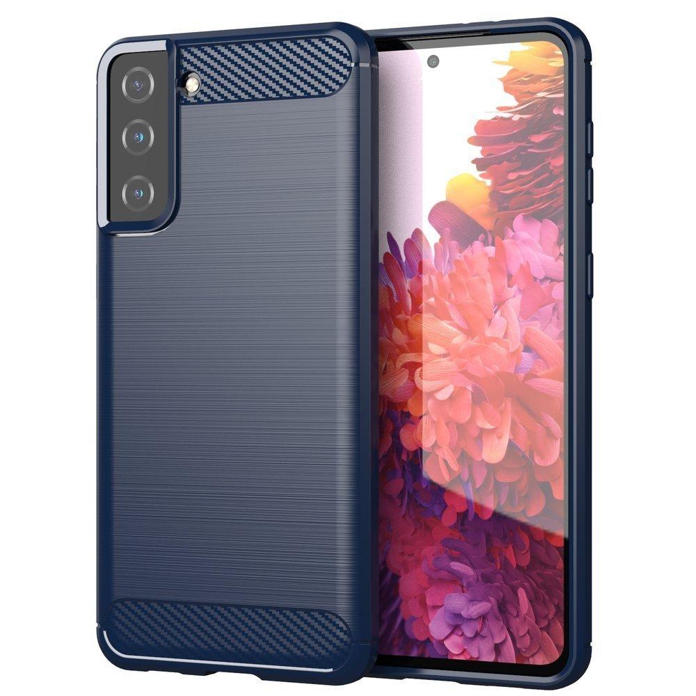 Carbon silikónové puzdro na Samsung Galaxy S21 PLUS 5G blue