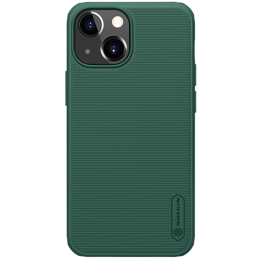 Nillkin Super Frosted Pro silikonové puzdro na iPhone 13 Mini deep green