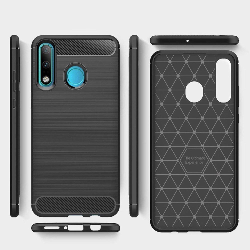Carbon silikonové pouzdro Huawei P30 Lite black