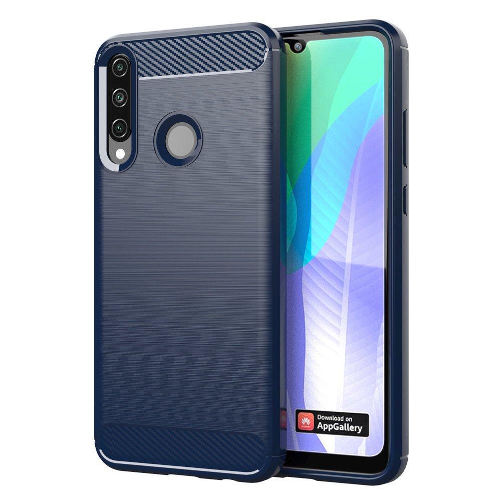 Carbon silikónové puzdro na Huawei Y6p blue