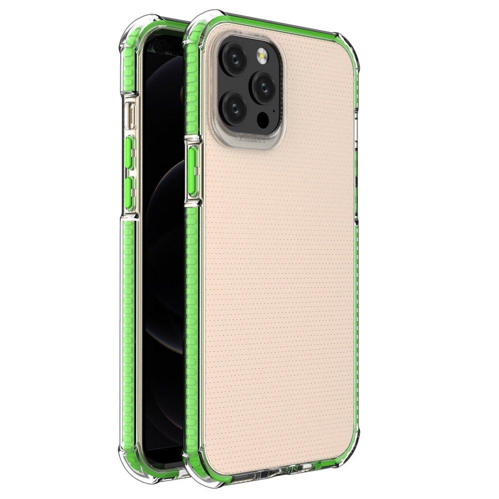"""Spring Armor silikonové pouzdro s barevným lemem na iPhone 12 Pro MAX 6,7"""" green"""