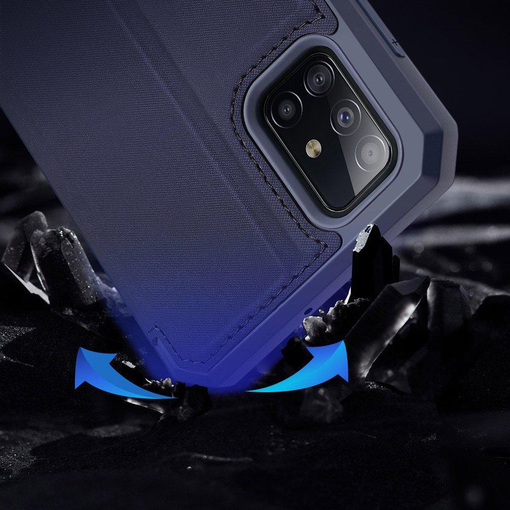 DUX DUCIS Skin X knížková puzdro na pre Samsung Galaxy A51 blue