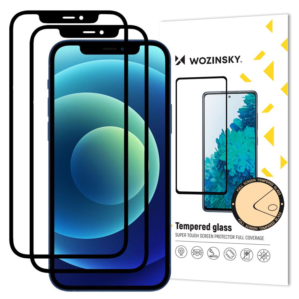 2 x Wozinsky Celoplošně lepené temperované tvrzené sklo 9H na iPhone 11 / XR black