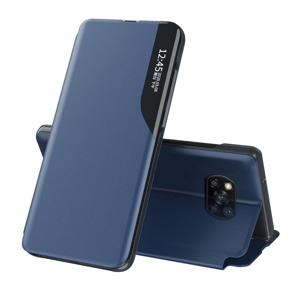 Knížkové puzdro s imitáciou kože pre Xiaomi Poco X3 Pro / X3 NFC blue