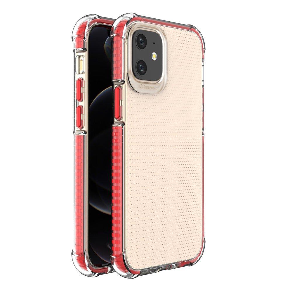 """Spring Armor silikonové pouzdro s barevným lemem na iPhone 12 Mini 5,4"""" red"""