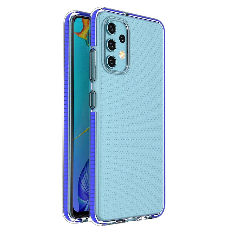 Spring silikonové pouzdro s barevným lemem na Samsung Galaxy A32 4G dark blue