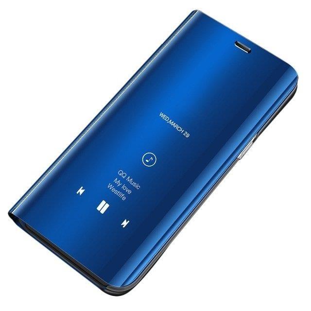 Knižkove púzdro pre Samsung Galaxy S10e blue s priehľadnou prednou stranou