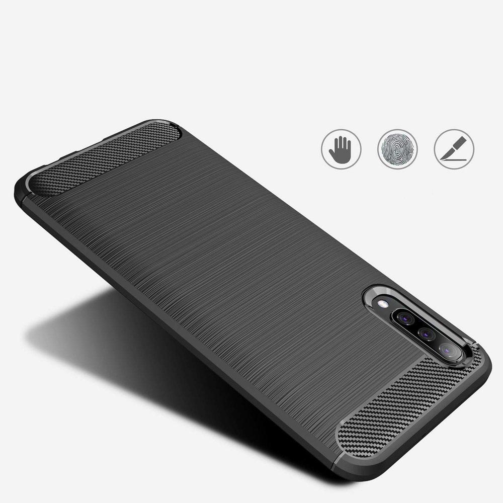 Silikonové pouzdro Carbon Samsung Galaxy A50 blue