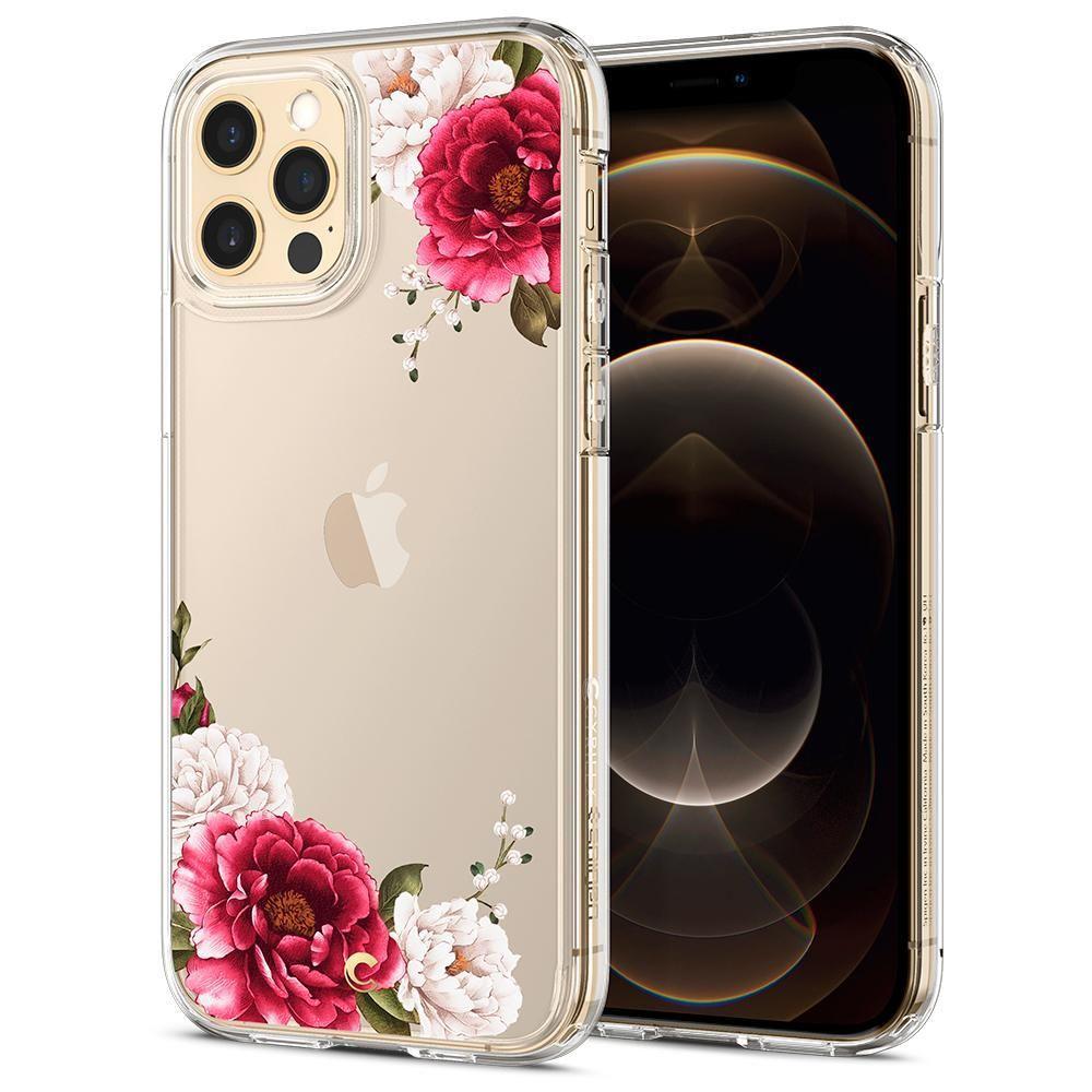 Spigen Cyrill Cecile silikonové pouzdro na iPhone 12 / 12 Pro Red Floral