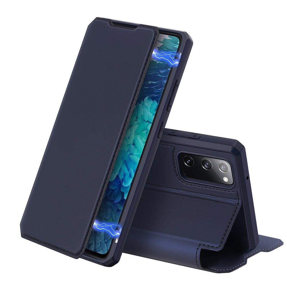 DUX DUCIS Skin X knížkové pouzdro na Samsung Galaxy S20 FE 5G blue