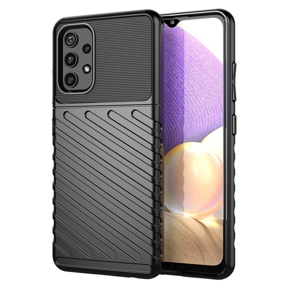 Thunder silikónové puzdro pre Samsung Galaxy A52 / A52 5G black