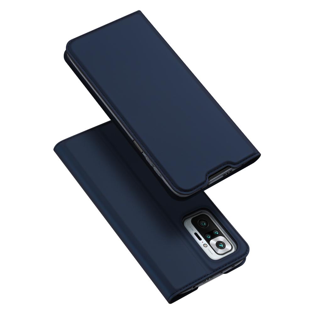 DUX DUCIS Skin knížkové púzdro preXiaomi Redmi Note 10 PRO blue