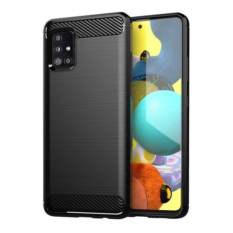 Carbon silikonové pouzdro na Samsung Galaxy M31s black