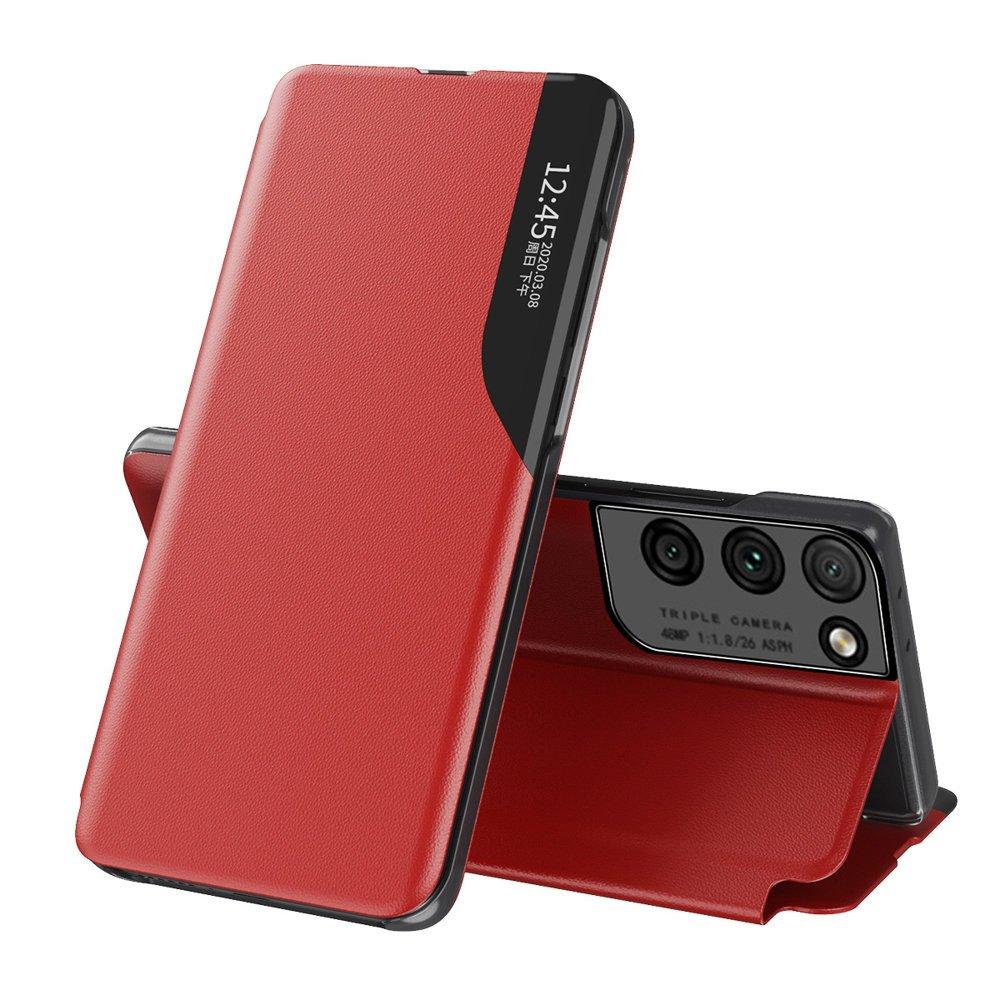 Flipové pouzdro Eco Leather View Case Samsung Galaxy S21 Ultra 5G červená 9111201925182