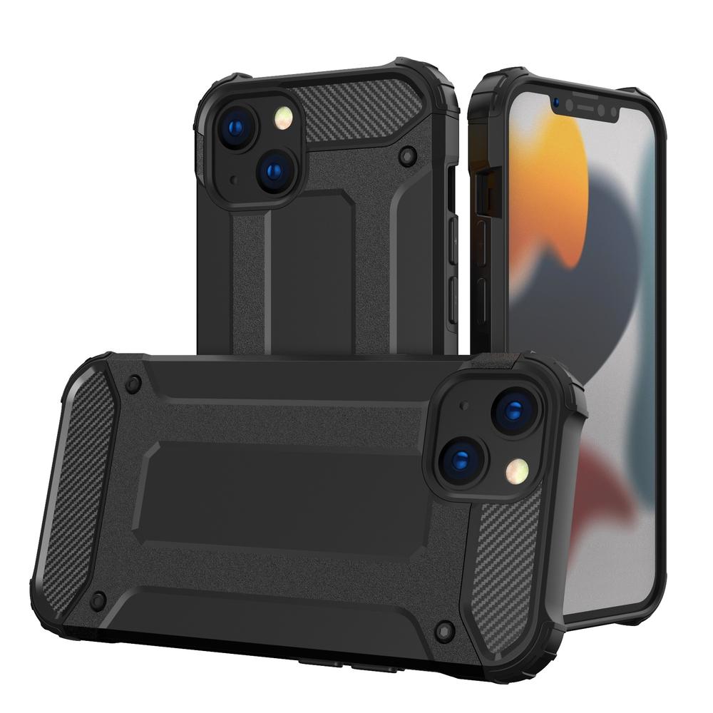 Hybrid pancierové polykarbonátové púzdro preiPhone 13 Mini black