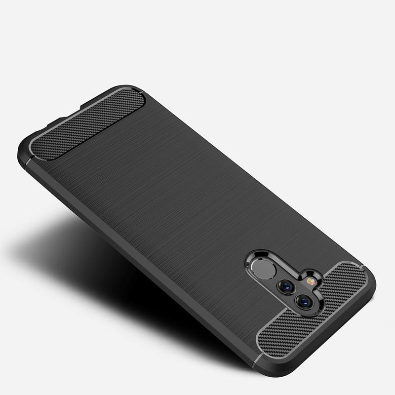 Carbon silikonové pouzdro na Huawei Mate 20 Lite black