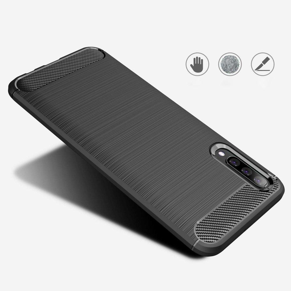 Silikonové pouzdro Carbon Samsung Galaxy A70 black