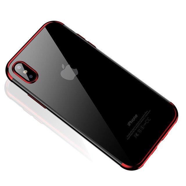 Color Electroplating silikonové pouzdro Huawei P30 Lite red