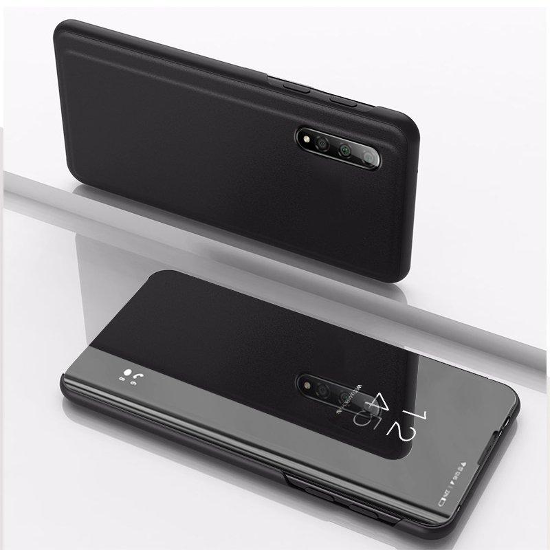 Knížkové pouzdro pro Xiaomi Mi CC9e / Xiaomi Mi A3 black s průhlednou přední stranou