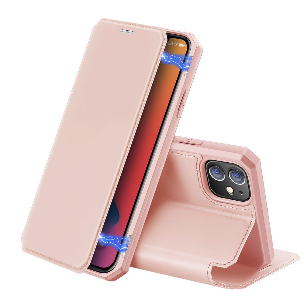 DUX DUCIS Skin X knížkové pouzdro na iPhone 12 / 12 Pro pink