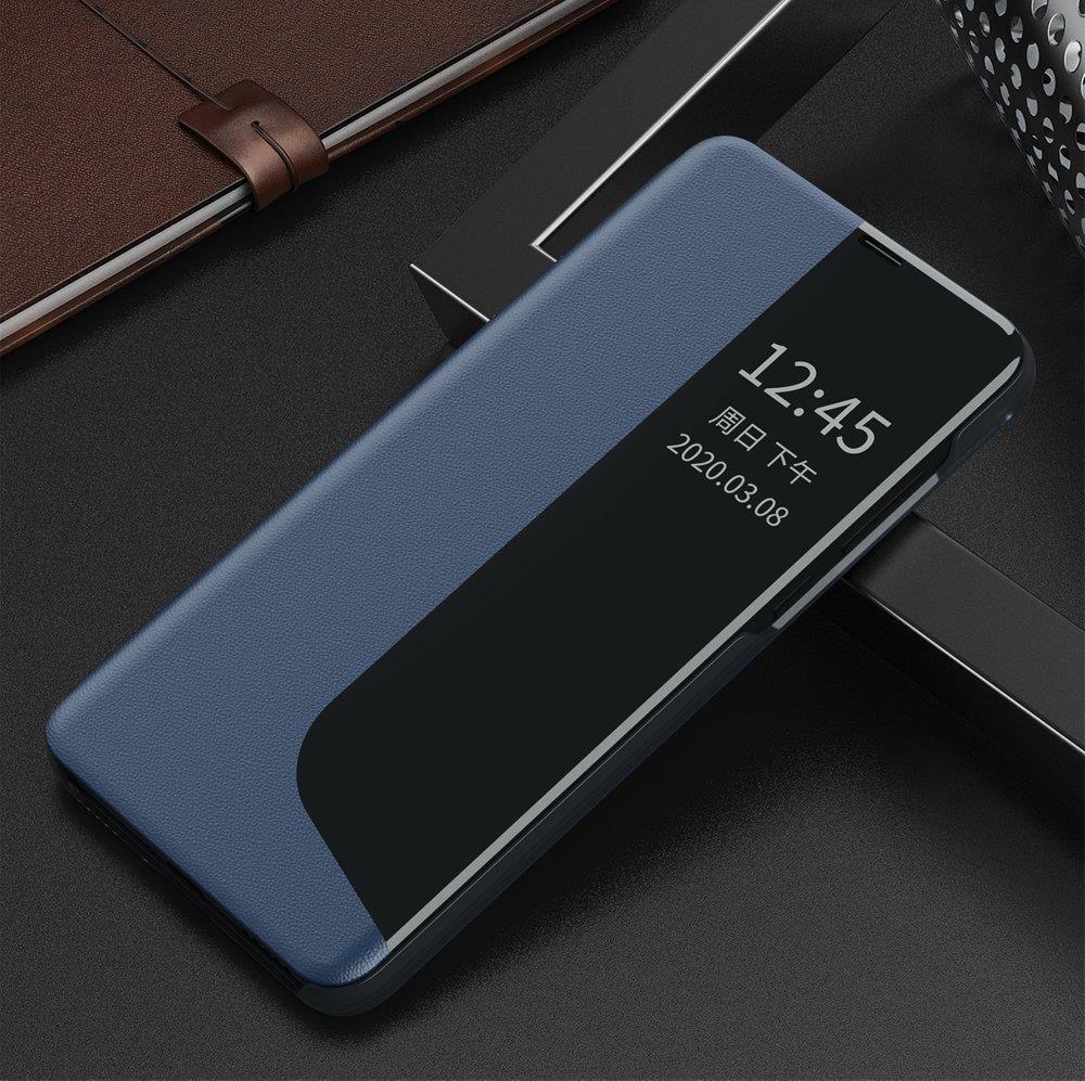 Knížkové pouzdro s imitací kůže na Huawei P40 Lite blue