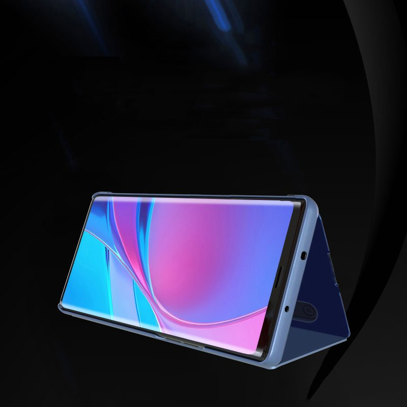 Knižkove púzdro pre Xiaomi Redmi Note 8 Pro blue s priehľadnou prednou stranou