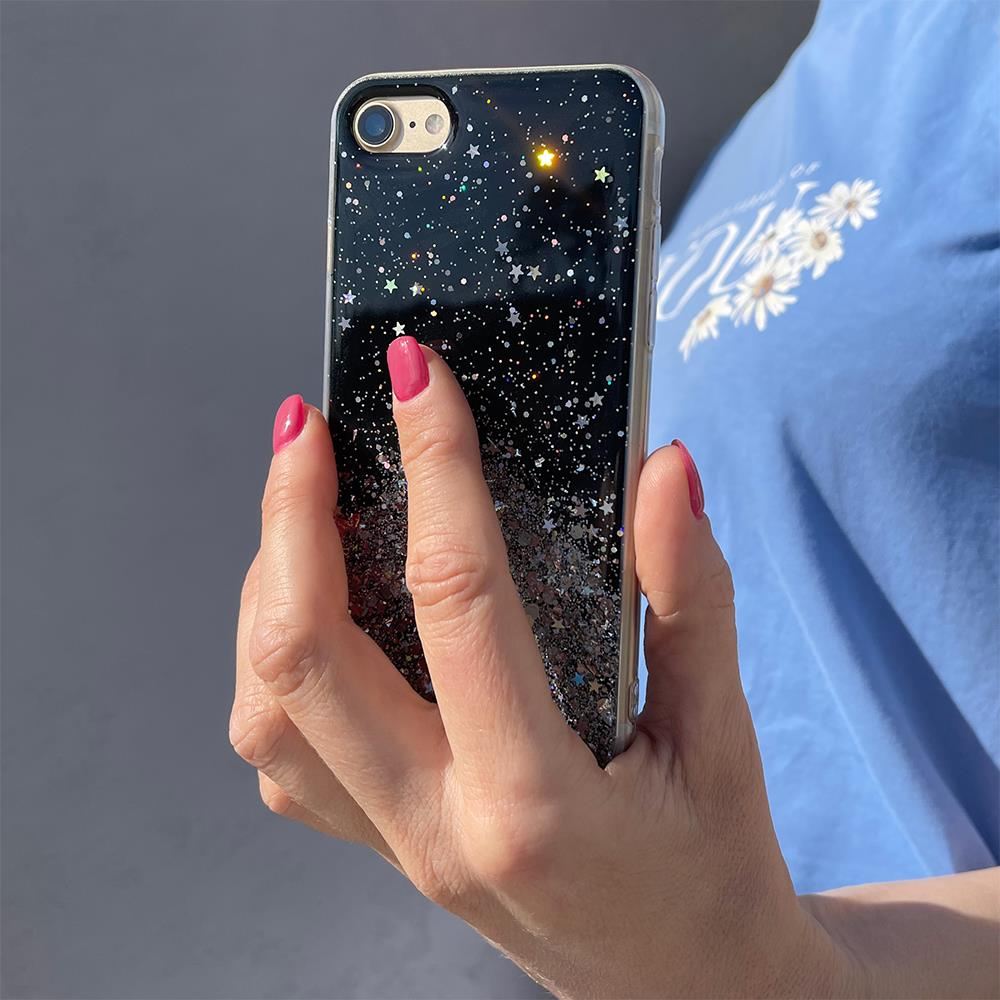 Wozinsky Star Glitter silikonové pouzdro na iPhone XR green