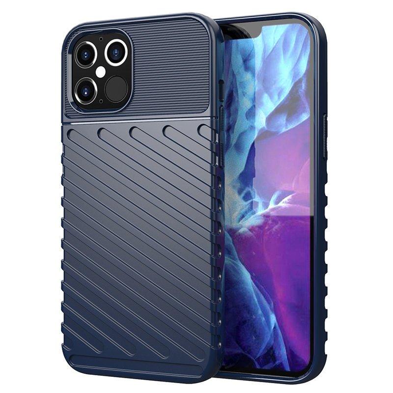 Thunder silikonové pouzdro na iPhone 12 / 12 Pro blue
