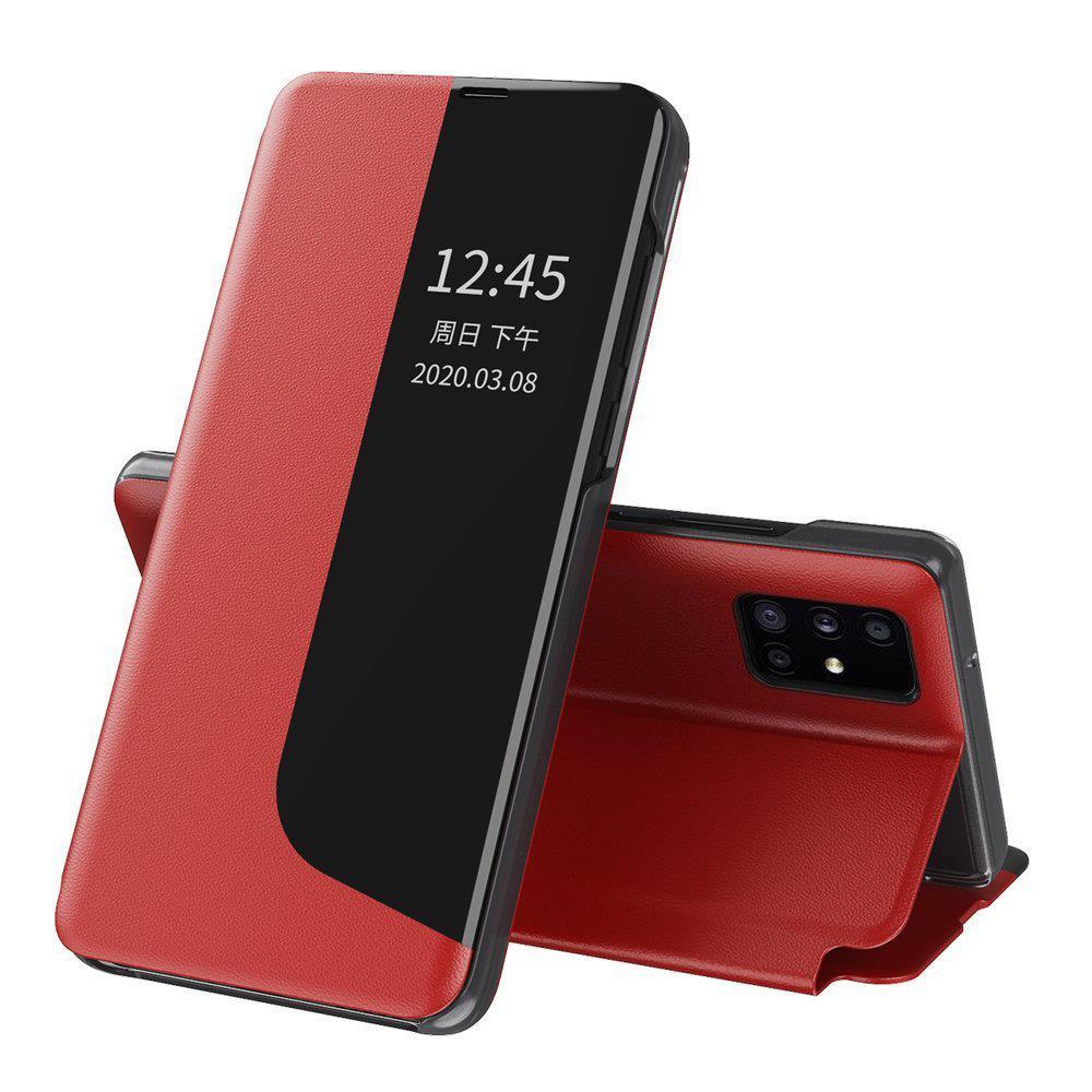 Knížkové puzdro s imitáciou kože pre Huawei P40 Lite E red