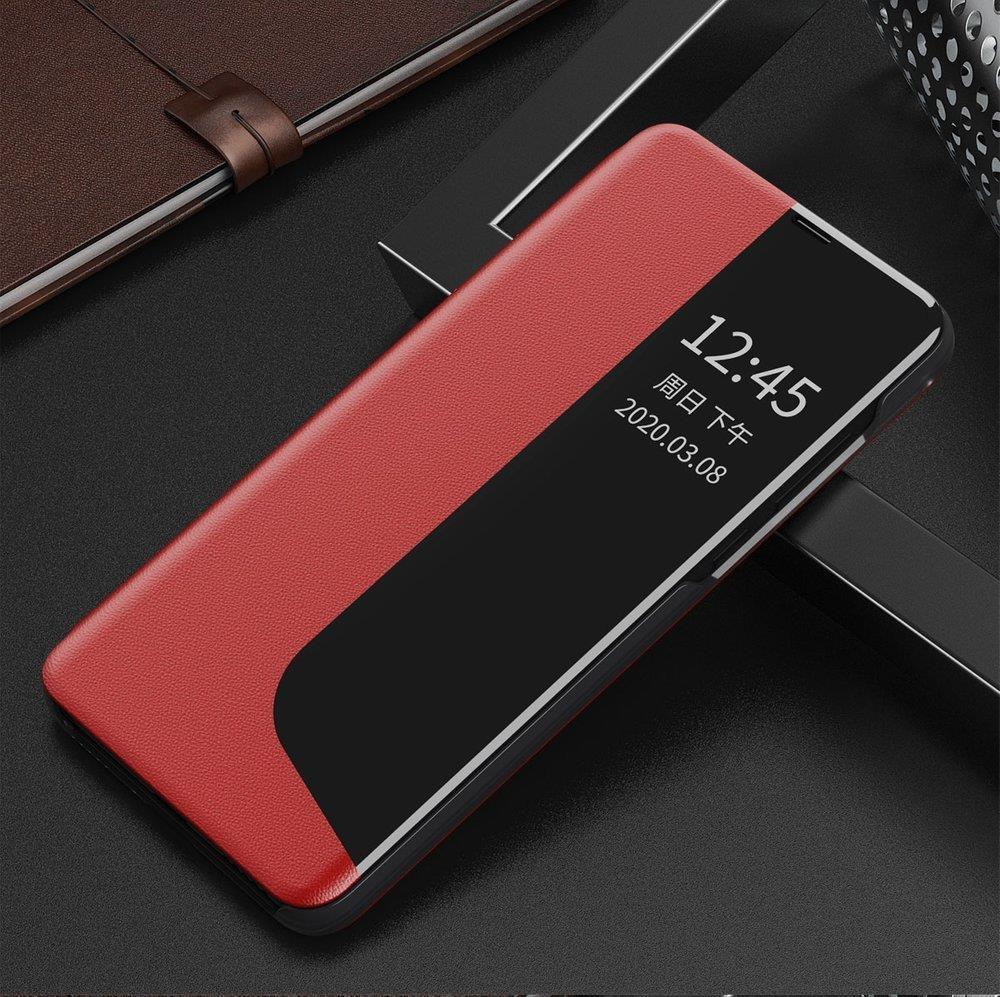 Knížkové pouzdro s imitací kůže na Huawei P40 Lite E red
