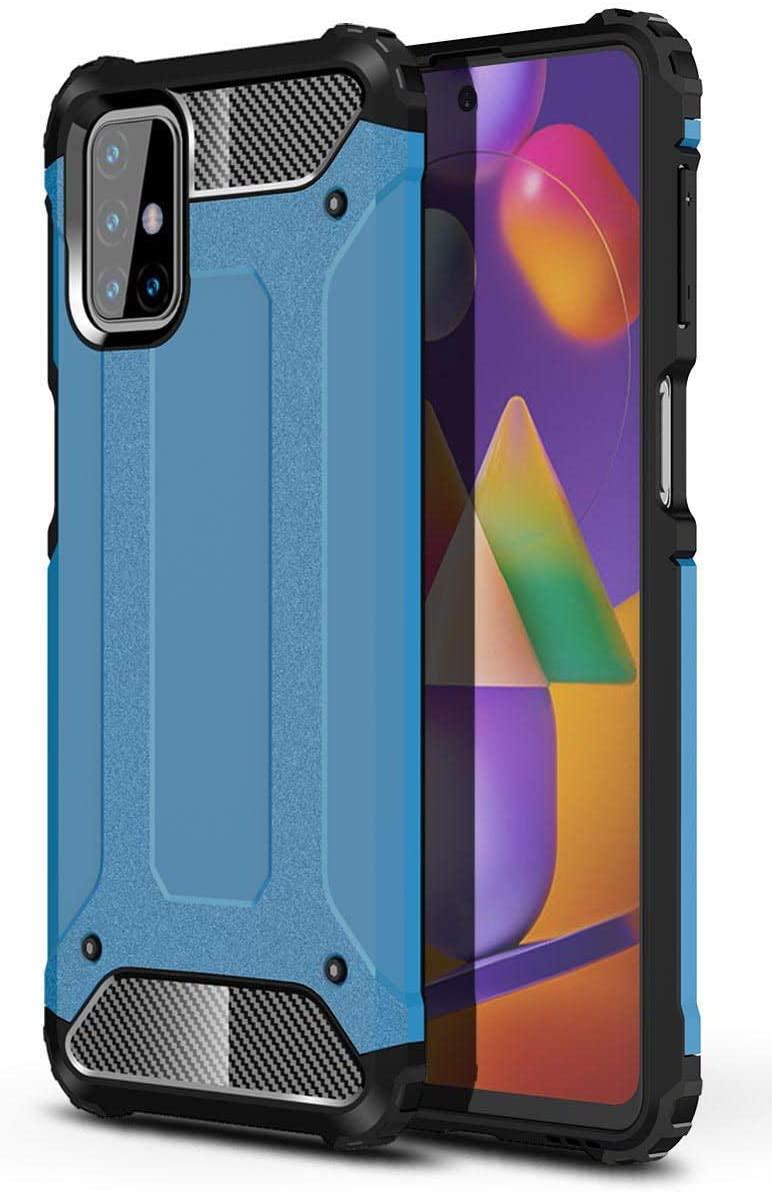 Hybrid pancéřové polykarbonátové pouzdro na Samsung Galaxy M31s blue