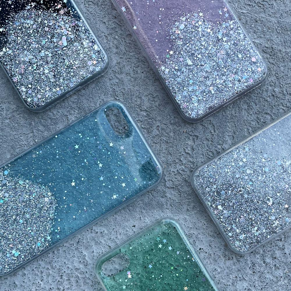 Wozinsky Star Glitter silikonové pouzdro na Samsung Galaxy M21 transparent