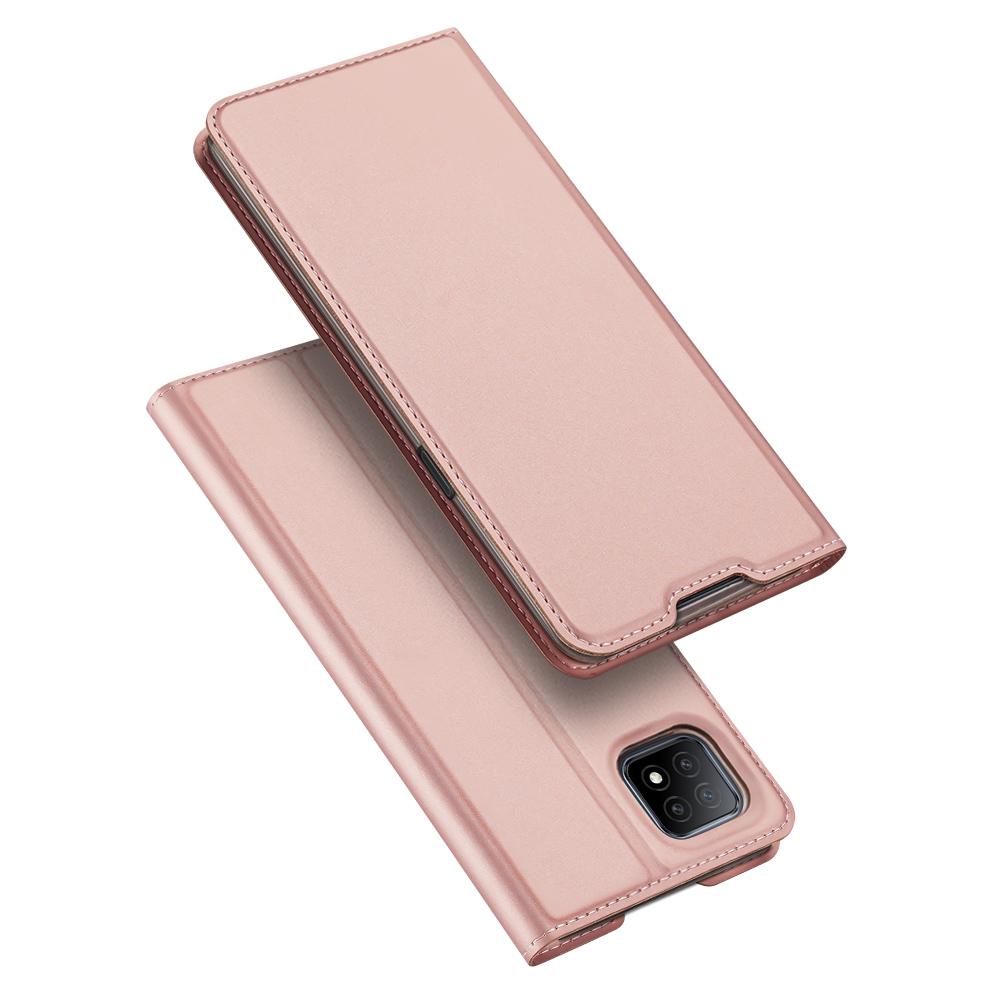 Flipové pouzdro Dux Ducis skin Oppo A73 5G / A53 5G , růžová
