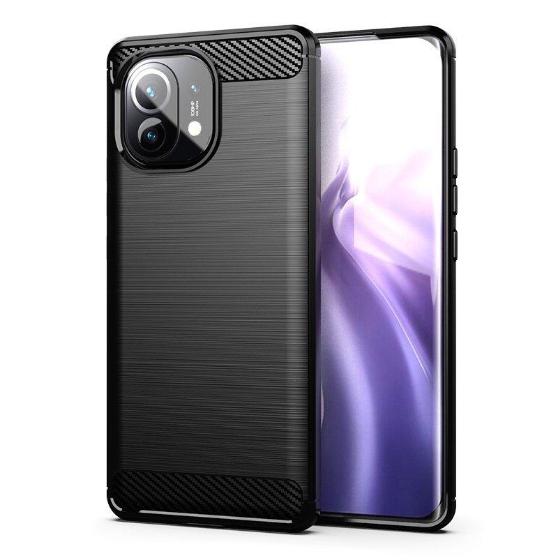 Carbon silikonové pouzdro naXiaomi Mi 11 black
