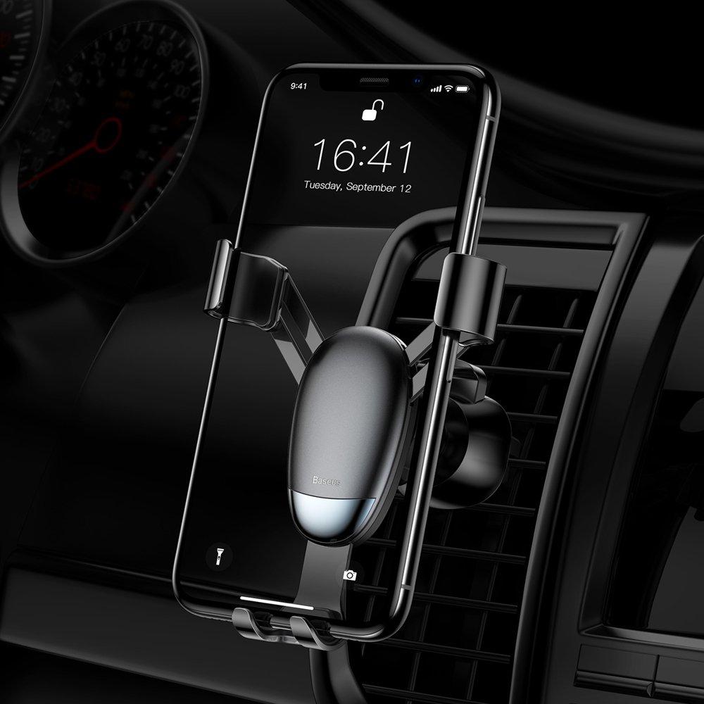Baseus Mini Gravity držák telefonu do větrací mřížky black (SUYL-G01)