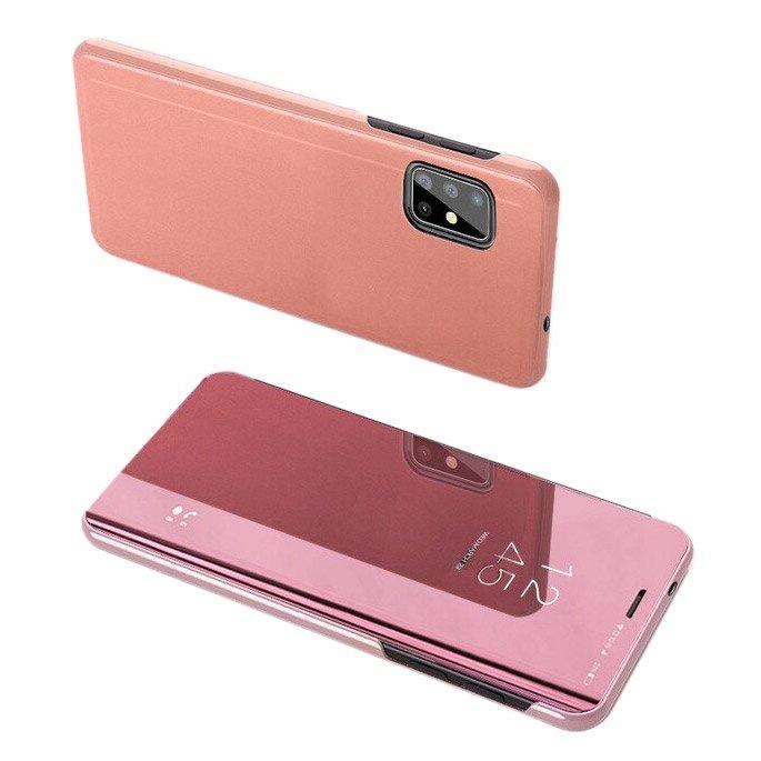 Knižkove púzdro pre Samsung Galaxy S20 FE pink s priehľadnou prednou stranou