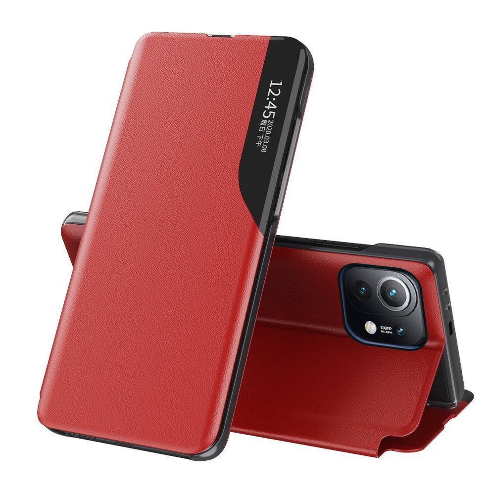 Knížkové pouzdro s imitací kůže na Xiaomi Mi 11 red
