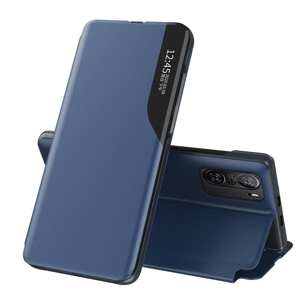 Knížkové puzdro s imitáciou kože pre Xiaomi Poco F3 / Mi 11i blue