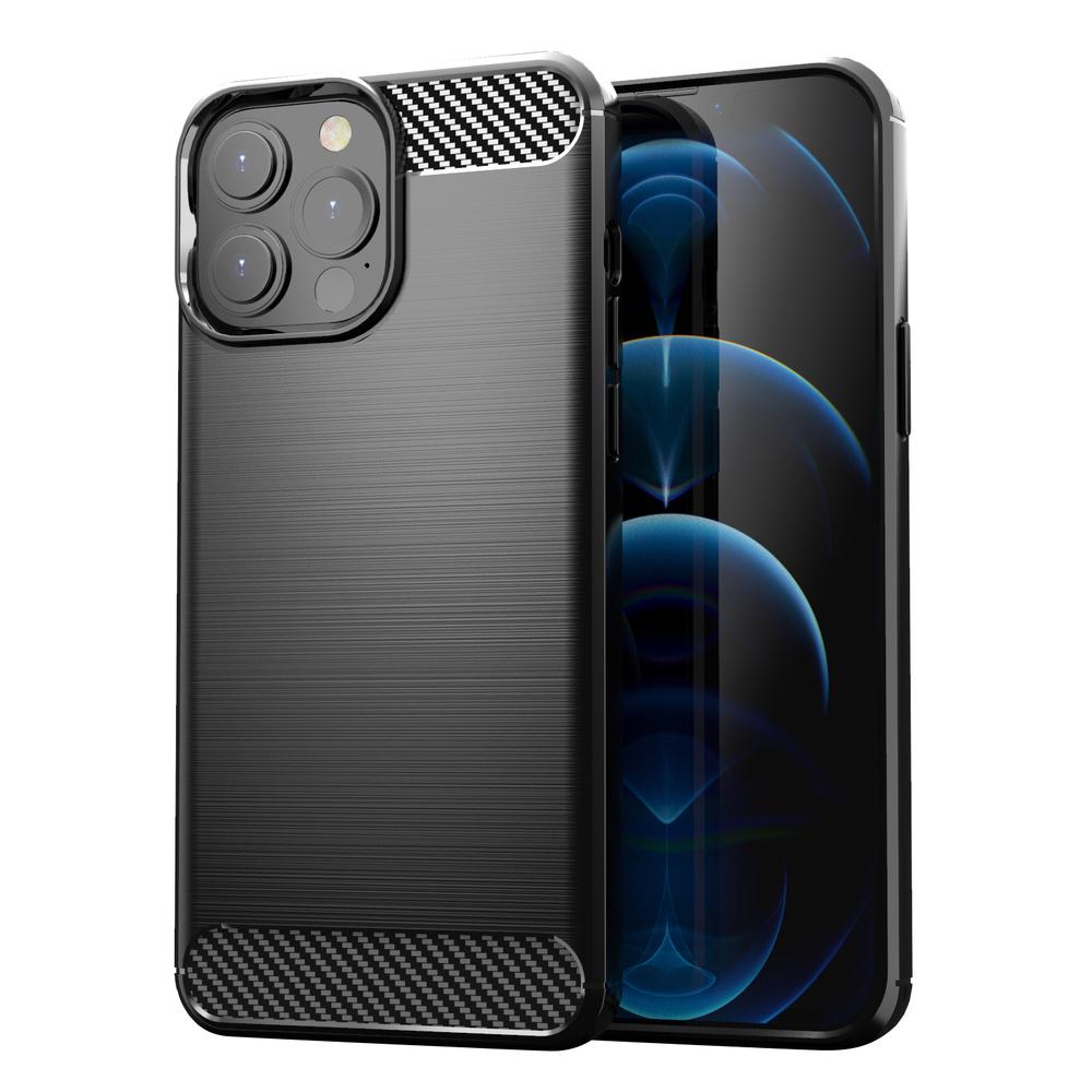 "Carbon silikónové puzdro naiPhone 13 Pro MAX 6.7"" black"