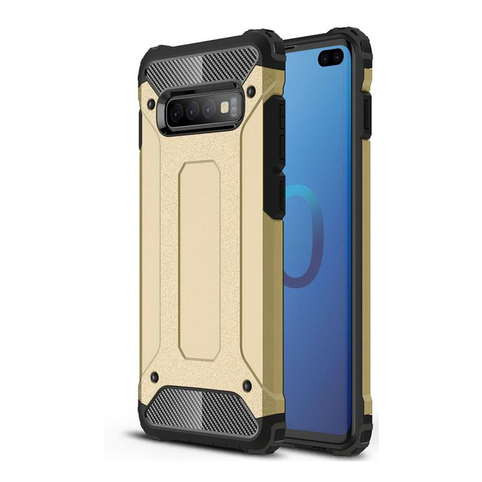 Hybrid polykarbonátové pouzdro pro Samsung Galaxy S10 Plus golden