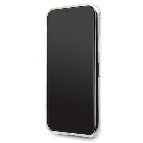 Karl Lagerfeld KLHCN65CFNRChard silikonové pouzdro iPhone 11 Pro MAX transparent Choupette fun