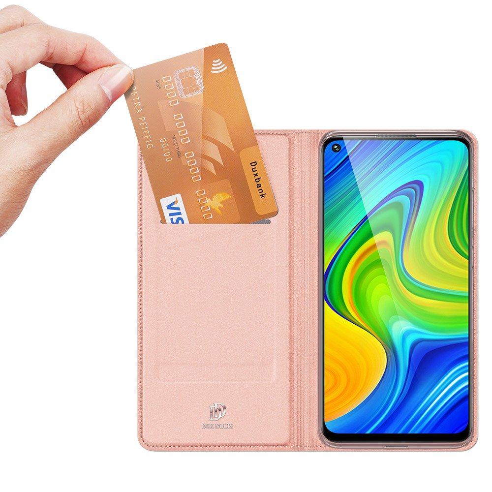 DUX DUCIS Skin knížkové pouzdro na Xiaomi Redmi Note 9 / Redmi 10X 4G pink