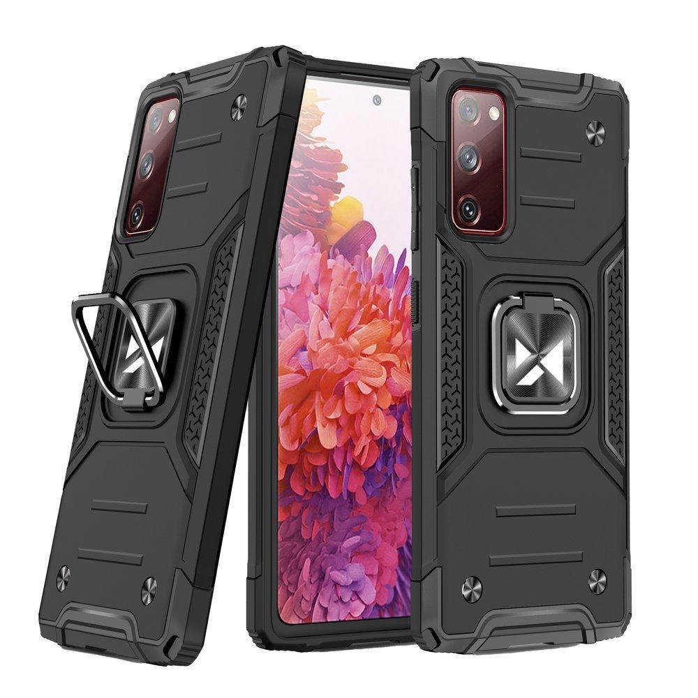 Wozinsky Hybrid pancierové púzdro s krúžkom pre Samsung Galaxy S20 FE black