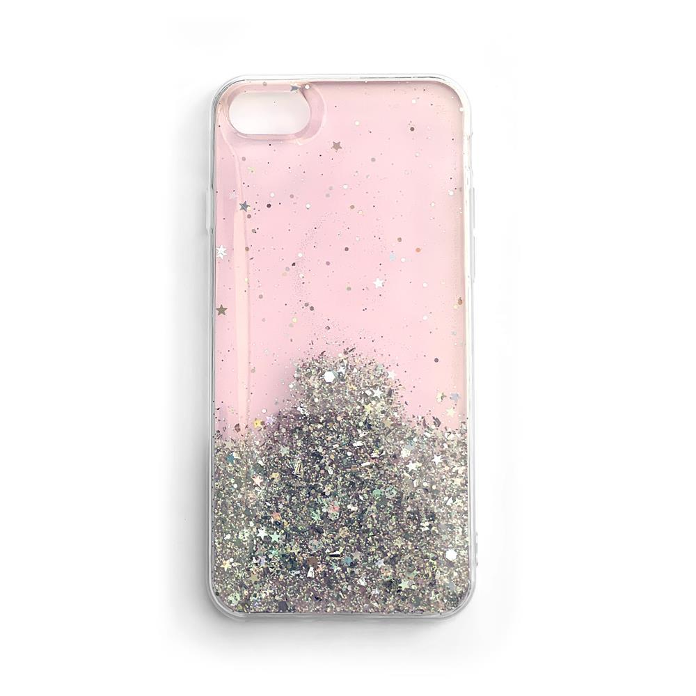 Wozinsky Star Glitter silikónové puzdro pre Samsung Galaxy S21 Plus 5G pink