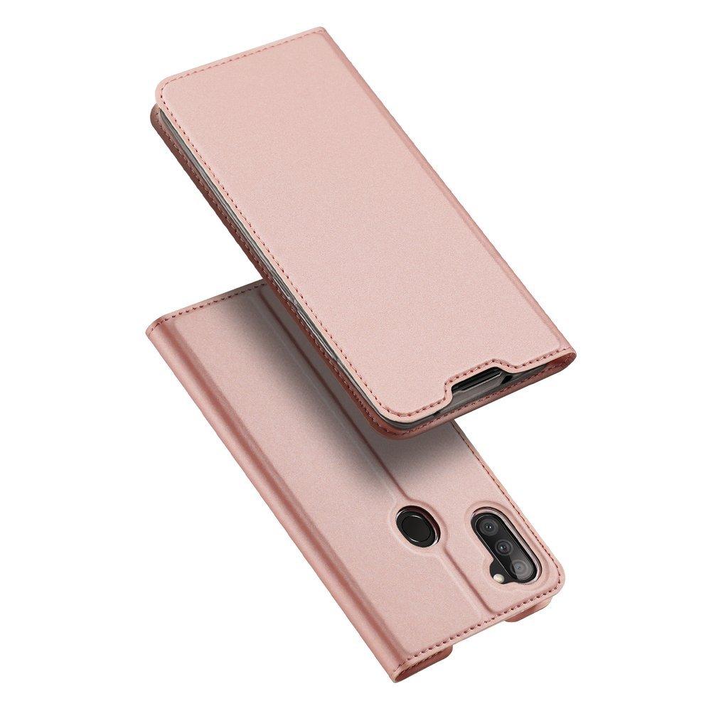 DUX DUCIS Skin knížkové púzdro pre Samsung Galaxy A11 / Galaxy M11 pink